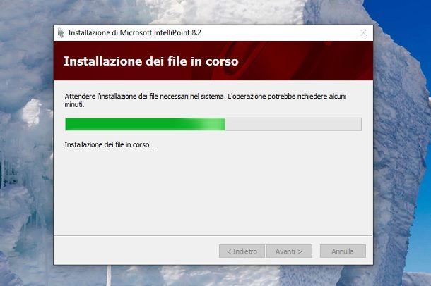 Installazione Microsoft IntelliPoint