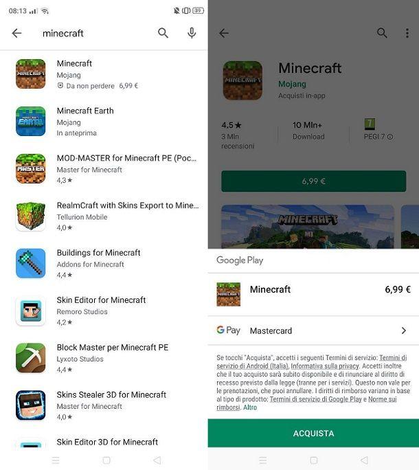 Minecraft Play Store