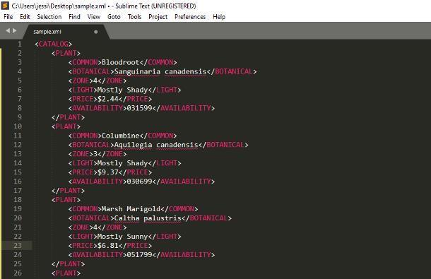 Programmi per XML
