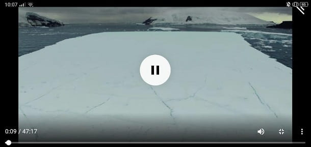 Player interno video Telegram