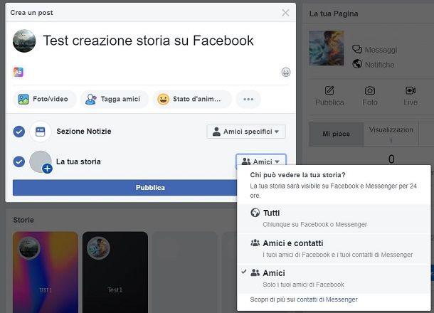 Privacy storia FB