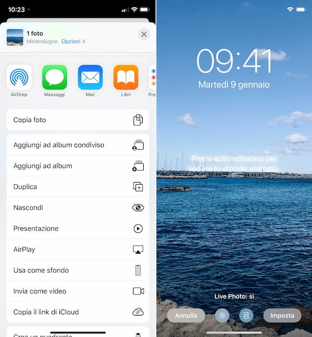 Impostare Live Photo come sfondo su iPhone