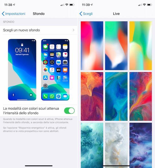 Impostare sfondo iPhone