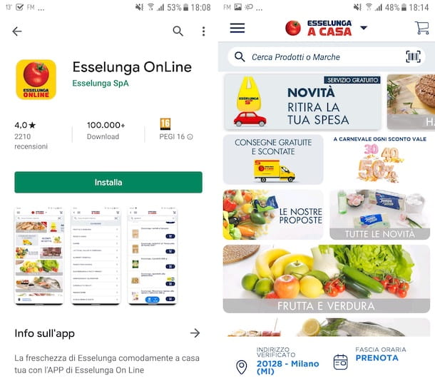 App Esselunga OnLine Android