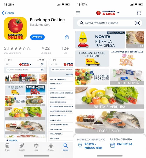 App Esselunga OnLine iPhone