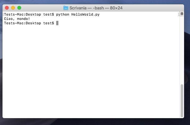 Come programmare in Python su Mac