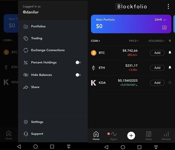 Blockfolio offre servizi e condivisione di investimenti in criptovalute