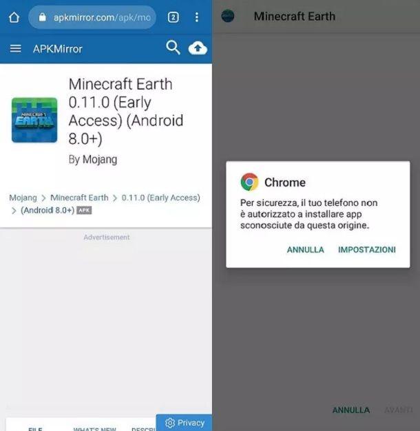 APK Minecraft Earth