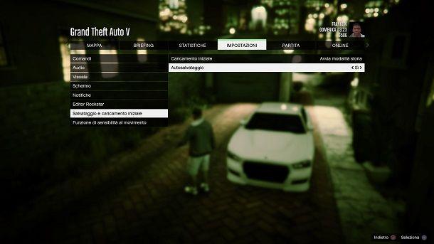 Autosalvataggio GTA 5