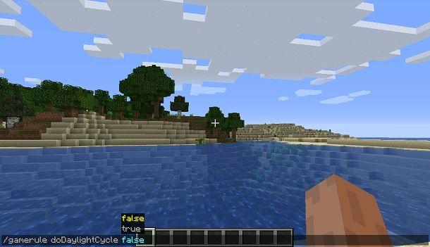 Bloccare il tempo su Minecraft