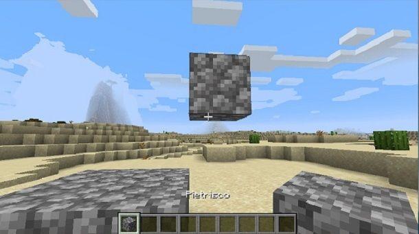 Blocco fluttuante Minecraft