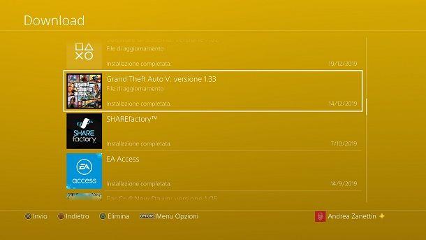 Come aggiornare GTA 5 PS4 Online