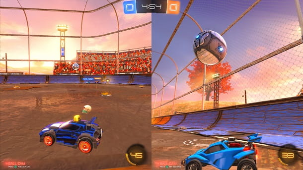 Come giocare a Rocket League in due