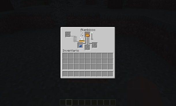Creare pozioni su Minecraft