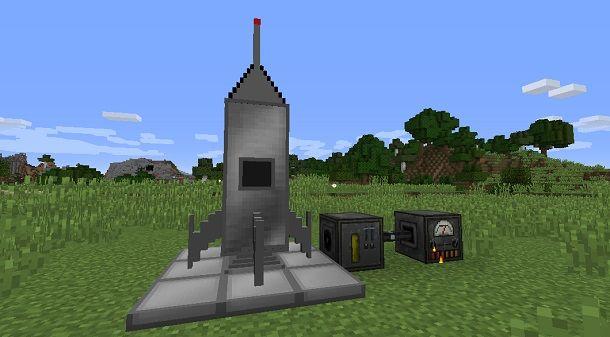 Creare un razzo spaziale su Minecraft