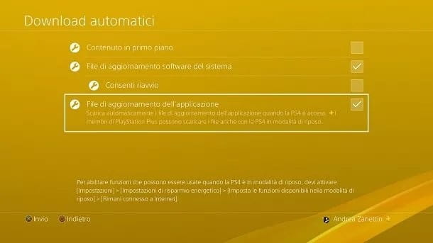 Download automatici PS4