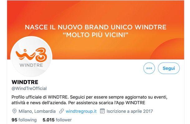 WINDTRE Twitter