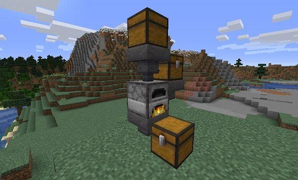 Fornace automatica su Minecraft