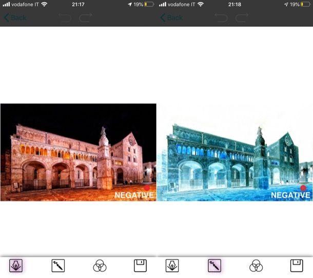 Invertire colore foto su iPhone