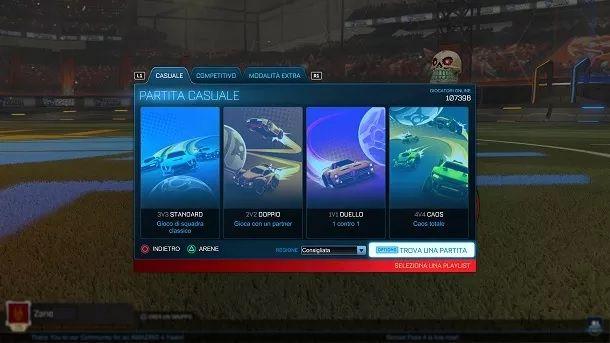 Partite Online Rocket League