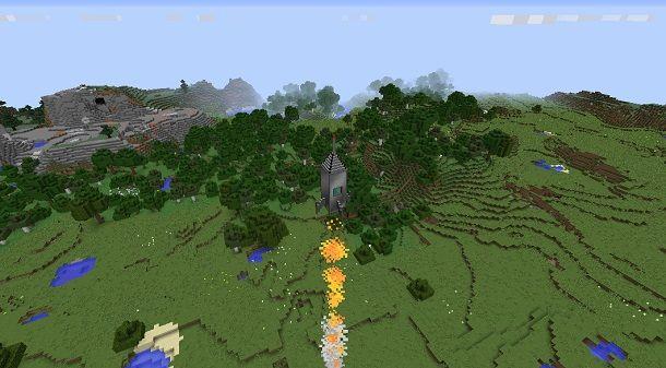 Razzo spaziale su Minecraft