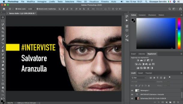 Miniatura video YouTube realizzata con Photoshop