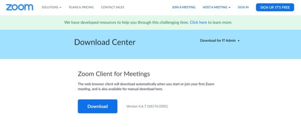 Download Zoom PC