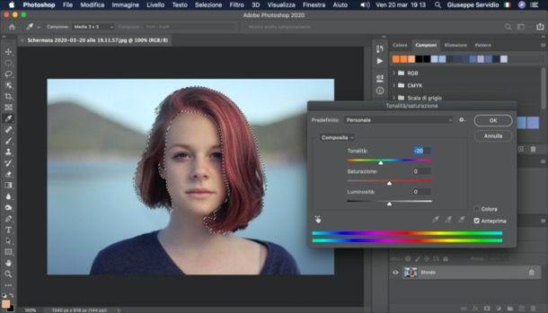 Cambiare colore capelli Photoshop