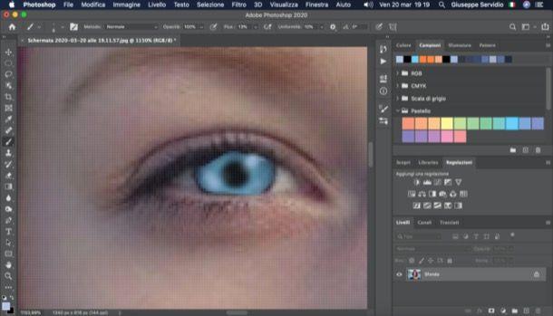 Cambiare colore occhi Photoshop