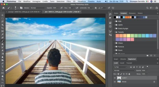 Cambiare sfondo foto con Photoshop