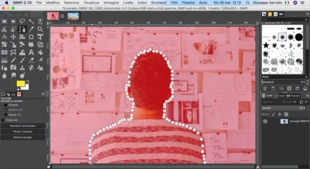 Maschera veloce di GIMP