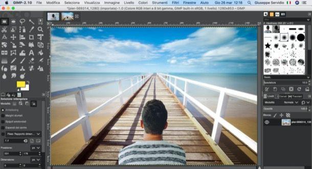 Cambiare sfondo foto con GIMP