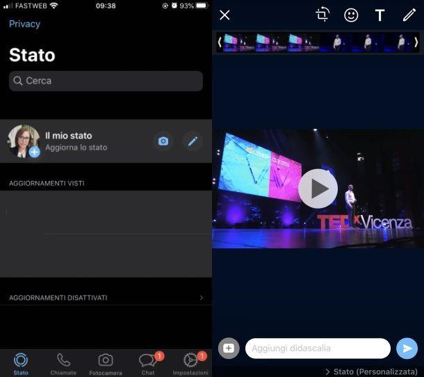 Stato WhatsApp video