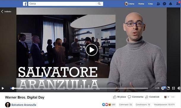 Video Facebook manuale