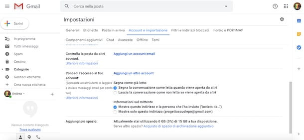 Condividere account Gmail