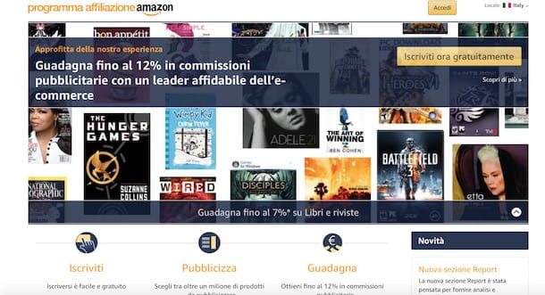 Come affiliarsi ad Amazon da computer