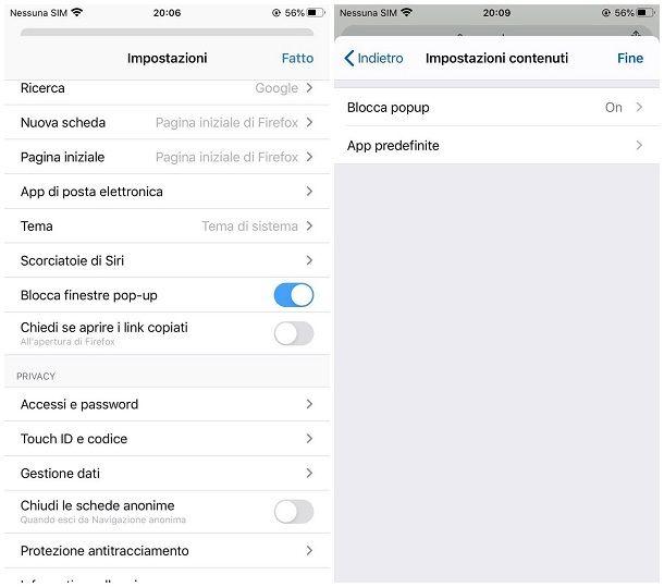 Come togliere il blocco popup su iPhone e iPad
