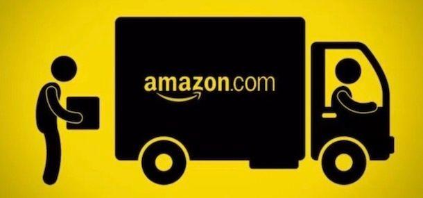 Immagine di un furgone di Amazon