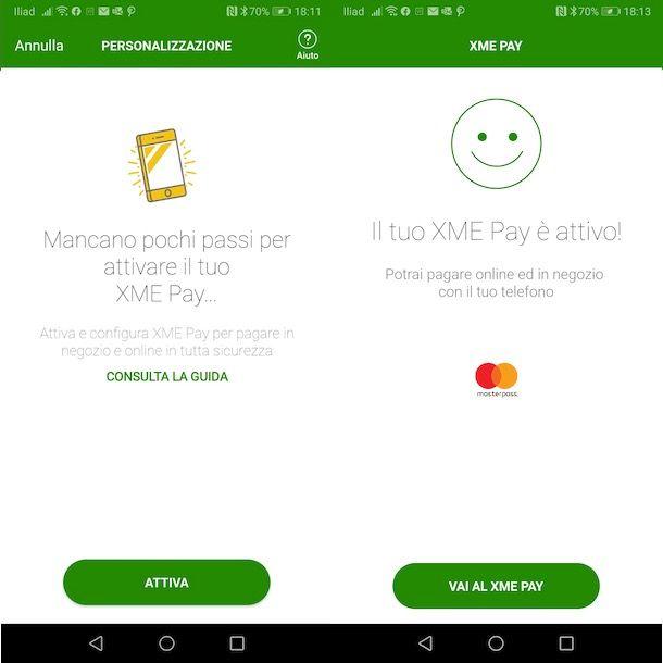 Attivazione XME Pay