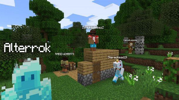 Il multiplayer cambia tra Minecraft for Windows 10 e Java Edition