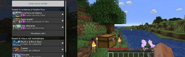 Imposta la partita e inizia a giocare a Minecraft!
