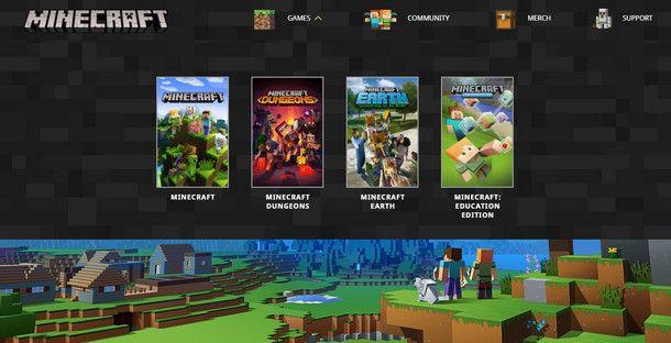 Esistono quattro tipologie di Minecraft