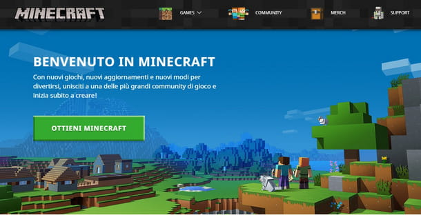 Acquista Minecraft dal suo store ufficiale