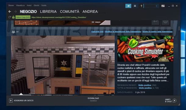 Scaricare Cooking Simulator da Steam