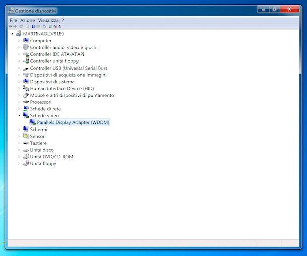 Gestione dispositivi Windows 7