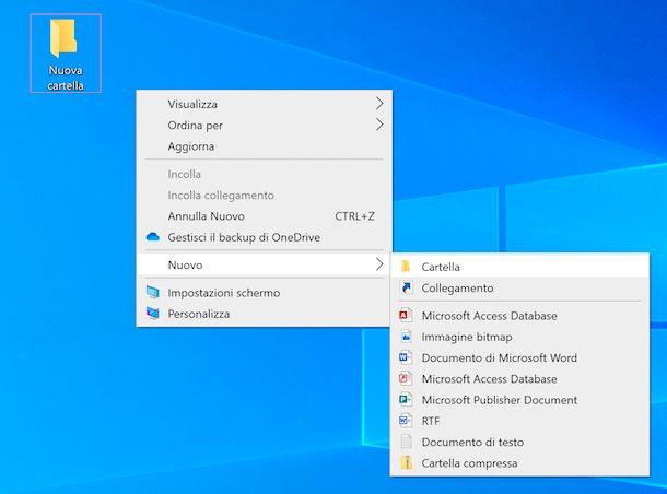 Nuova cartella Windows
