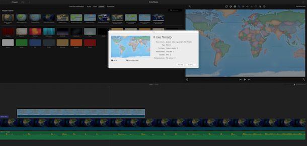Salvare ed esportare il filmato su Mac