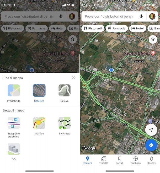 Monitorare il traffico con Google Maps