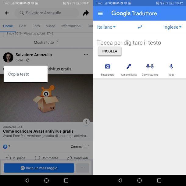 Come usare Google Traduttore su Facebook