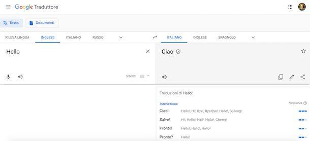 Google Traduttore da computer